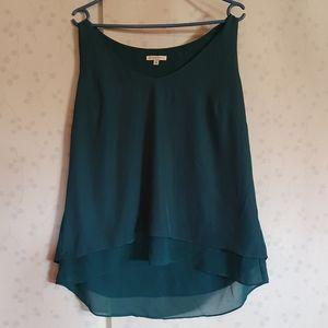Size 16 Green sleeveless layered top